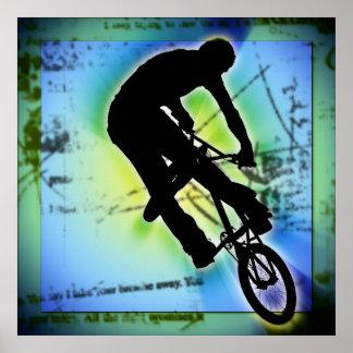 BMX Mountain Biking Poster