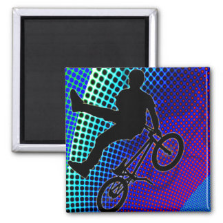 BMX on Fractal Movie Marquee Magnets