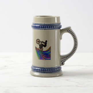 BMX on Rainbow Road Coffee Mugs