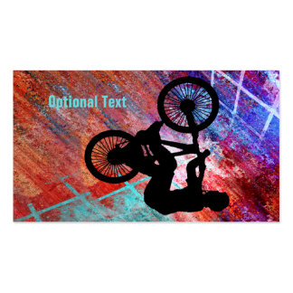 BMX on Rusty Grunge Business Card Templates