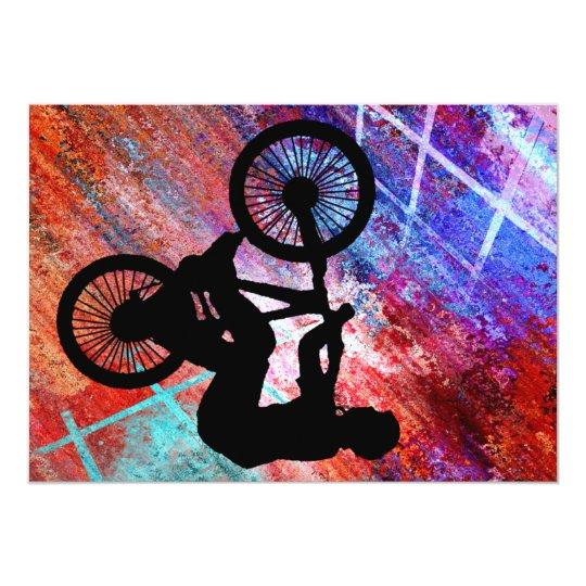 BMX on Rusty Grunge Card