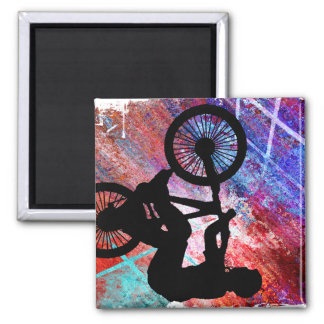 BMX on Rusty Grunge Fridge Magnet