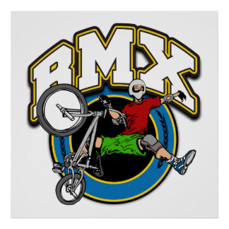 BMX One Handed Trick Print