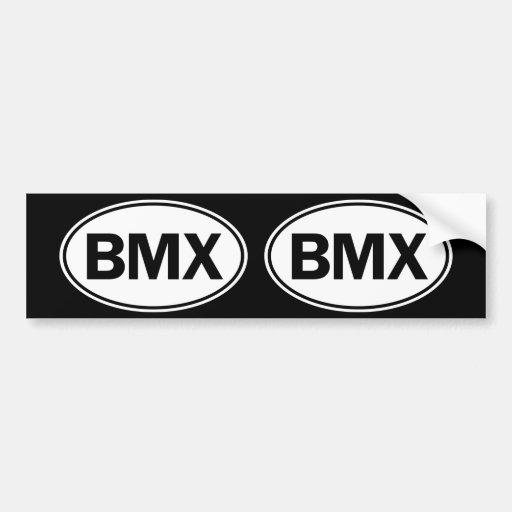 BMX Oval ID Bumper Stickers