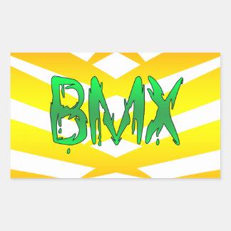 Bmx Rectangular Sticker