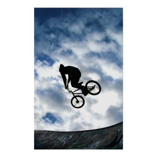 BMX rider at Devonshire Green, Sheffield Posters