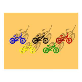 BMX rider bicyle cycling dirt track cyclist Postcard
