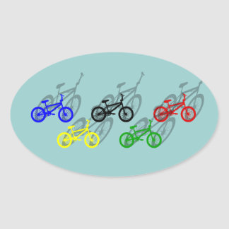 BMX rider bicyle cycling dirt track cyclist Stickers
