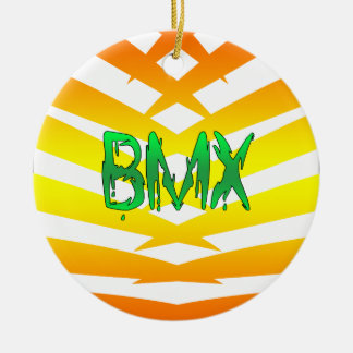 Bmx Round Ceramic Decoration