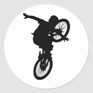 BMX Sports Dirt Bike Team Freestyle Destiny Classic Round Sticker
