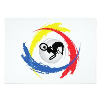 BMX Tricolor Emblem Card