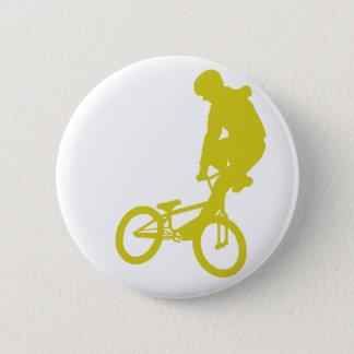 BMX Yellow 6 Cm Round Badge