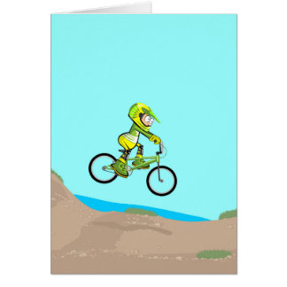 BMX young cycling lowering to the earth track Card