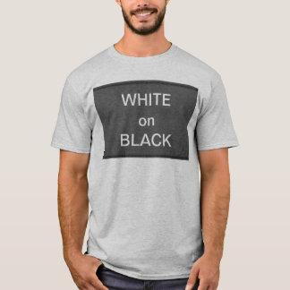 BNW Circles n Text Samples - White on Black T-Shirt