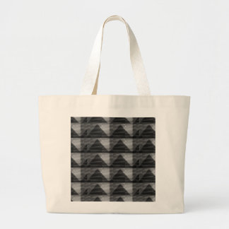 BNW Diamond PYRAMID patterns BLACK  lowprice gifts Canvas Bags