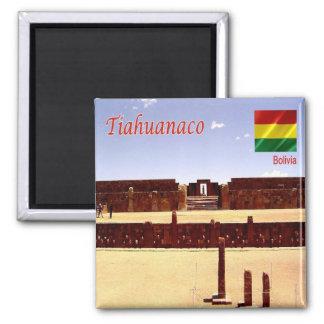 BO - Bolivia - Tiahuanaco Spiritual and Political Square Magnet