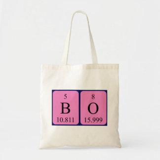 Bo periodic table name tote bag