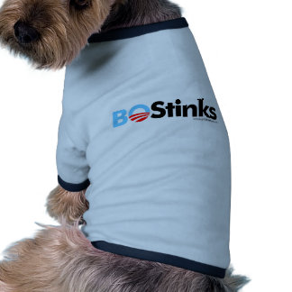BO Stinks Graphic Ringer Dog Shirt