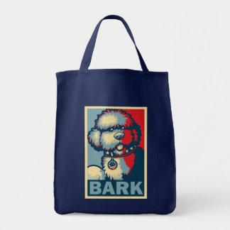 "Bo The Dog, Funny ""Obama HOPE"" Grocery Tote Bag"