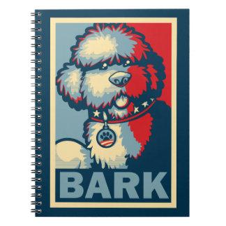"Bo The Dog, Funny ""Obama HOPE"" Note Books"