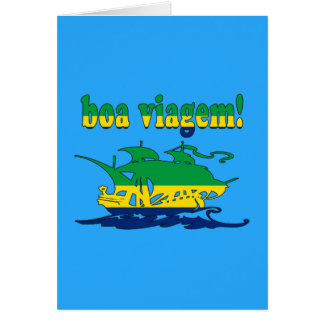 Boa Viagem - Good Trip in Brazilian - Vacations Cards