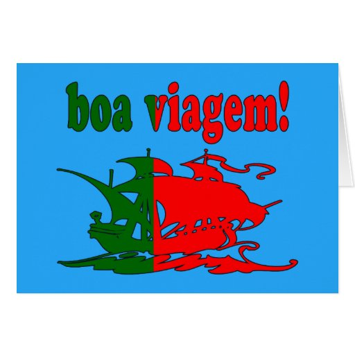 Boa Viagem - Good Trip in Portuguese - Vacations Greeting Cards