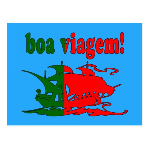 Boa Viagem - Good Trip in Portuguese - Vacations Postcards