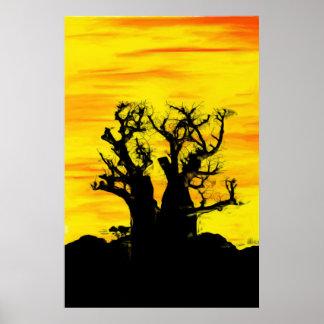 Boab Tree in Oils Archival Print