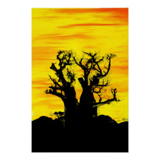 Boab Tree in Oils Archival standard Print