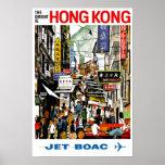 BOAC - Hong Kong Poster