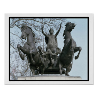 Boadicea, 1850s (bronze) (see also 33580) poster