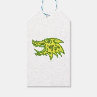 Boar Head Celtic Knot Gift Tags