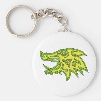 Boar Head Celtic Knot Key Ring