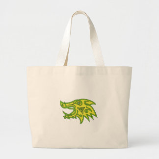 Boar Head Celtic Knot Large Tote Bag