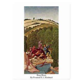 Boar Hunt By Frueauf D. J. Rueland Post Cards