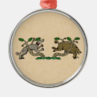 Boar Hunt Metal Ornament