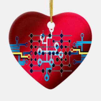 board circuits trace control cente ceramic heart decoration