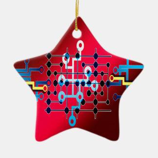 board circuits trace control cente ceramic star decoration