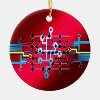 board circuits trace control cente round ceramic decoration