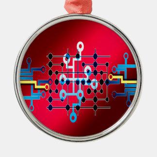 board circuits trace control cente Silver-Colored round decoration