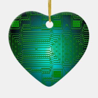 board conductors circuits ceramic heart decoration
