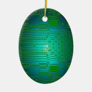 board conductors circuits ceramic oval decoration