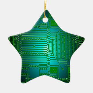 board conductors circuits ceramic star decoration