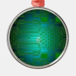 board conductors circuits Silver-Colored round decoration
