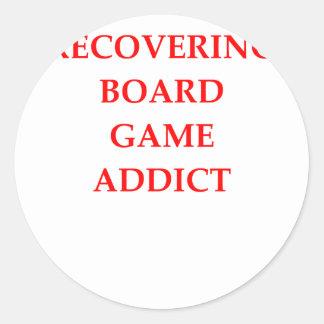 board games classic round sticker