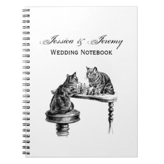 Board Games: Two Cats playing a Chess Match Notebooks
