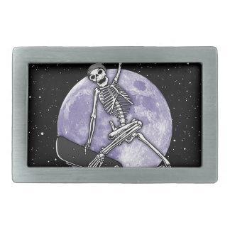 Board Skeleton Rectangular Belt Buckle