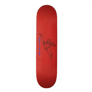 Board with casters TAEKWONDO DWICHAGI back kick Skateboard Deck