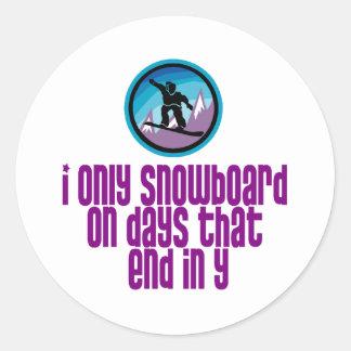 BoardChick Days Classic Round Sticker