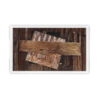Boarded Up Old Wooden House Window Acrylic Tray